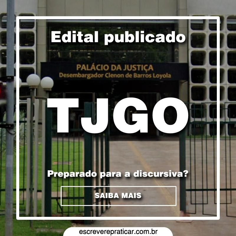 TJGO Prova Discursiva